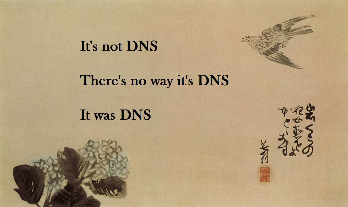 It's always DNS.